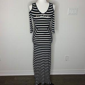 Striped Bebe maxi dress
